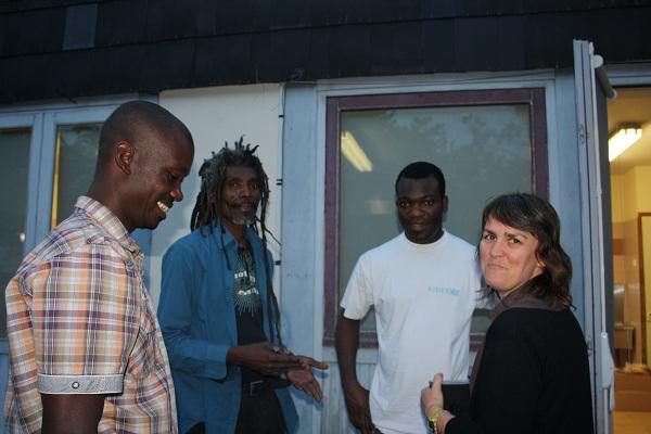 soirée haitienne avec Bob Bovano (2ème en partant de la gauche)