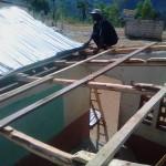 reparation du toit de la 2nd classe